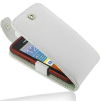 Leather Flip Top Case for Samsung Galaxy xCover GT-S5690 (White)