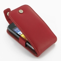 Leather Flip Top Case for Samsung Galaxy Y Duos GT-S6102 (Red)