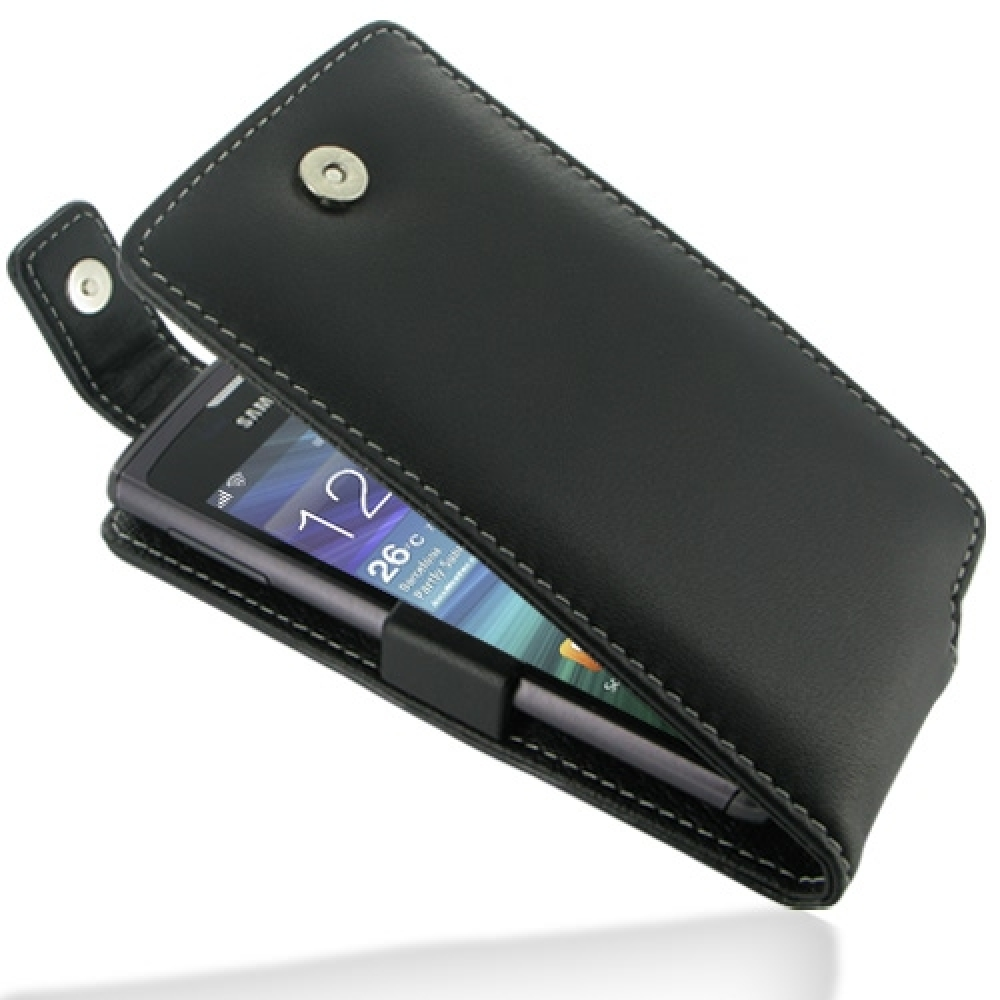 10% OFF + FREE SHIPPING, Buy Best PDair Top Quality Handmade Protective Samsung Wave 3 Leather Flip Top Case (Black) online. Pouch Sleeve Holster Wallet You also can go to the customizer to create your own stylish leather case if looking for additional co