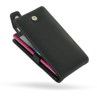Sony Xperia Acro S Leather Flip Top Case PDair Premium Hadmade Genuine Leather Protective Case Sleeve Wallet