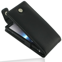 Sony Xperia P Leather Flip Top Case PDair Premium Hadmade Genuine Leather Protective Case Sleeve Wallet