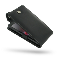 Sony Xperia SP Leather Flip Top Case PDair Premium Hadmade Genuine Leather Protective Case Sleeve Wallet