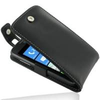 Leather Flip Top Case for ZTE Tania (Black)