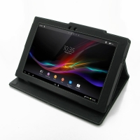Leather Folio Stand Case for Sony Xperia Tablet Z