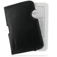 Leather Horizontal Pouch Case for Amazon Kindle 3 (Black) Ver. 2