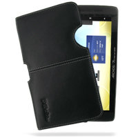 Archos 70 Internet Tablet 8GB Leather Pouch Case Ver.2 (Black) PDair Premium Hadmade Genuine Leather Protective Case Sleeve Wallet