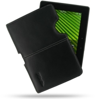 Leather Horizontal Pouch Case for BlackBerry PlayBook (Black) Ver. 2