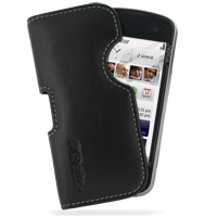 Leather Horizontal Pouch Case for Nokia N97 (Black) Ver. 2
