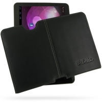 Samsung Galaxy Tab 10.1v Leather Pouch Case Ver.2 (Black) PDair Premium Hadmade Genuine Leather Protective Case Sleeve Wallet