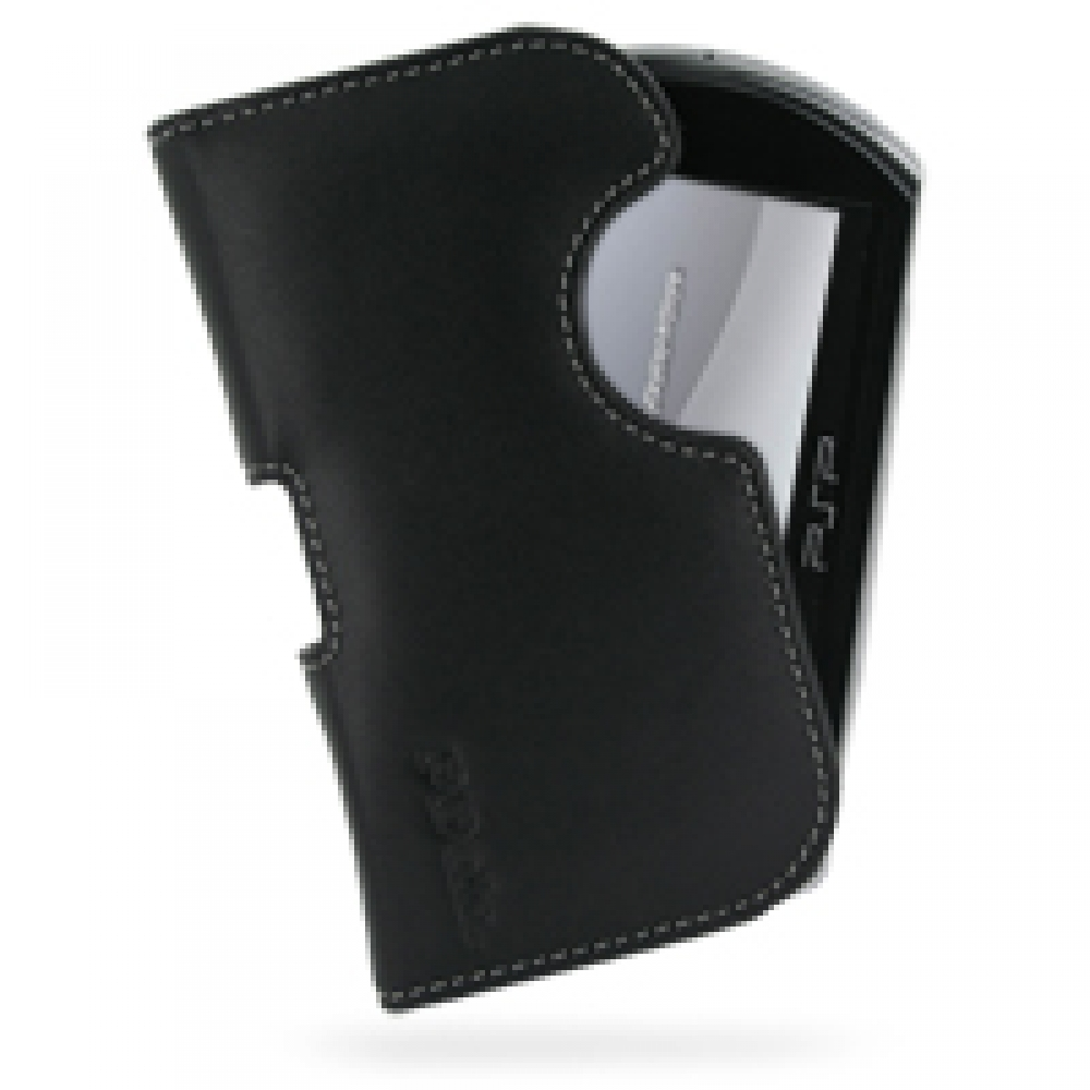 Leather Horizontal Pouch Case for Sony PSP GO (Black) Ver  2