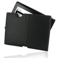 Sony Tablet S Leather Pouch Case Ver.2 (Black) PDair Premium Hadmade Genuine Leather Protective Case Sleeve Wallet