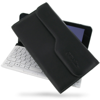 Sony VAIO VPC-P Series Leather Pouch Case (Black) PDair Premium Hadmade Genuine Leather Protective Case Sleeve Wallet