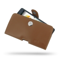 Acer Liquid S1 Leather Holster Case (Brown) PDair Premium Hadmade Genuine Leather Protective Case Sleeve Wallet