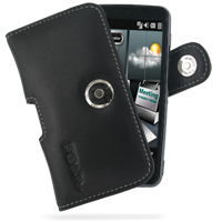 Leather Horizontal Pouch Case with Belt Clip for Acer Tempo F900 (Black)