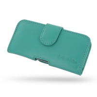 Leather Horizontal Pouch Case with Belt Clip for Apple iPhone 5 | iPhone 5s (Aqua)