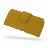 Leather Horizontal Pouch Case with Belt Clip for Apple iPhone 5 | iPhone 5s (Golden Palm)