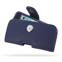 Leather Horizontal Pouch Case with Belt Clip for Apple iPhone 5 | iPhone 5s( Compatible with 1.0 mm Slim Case / Cover on ) (Purple)
