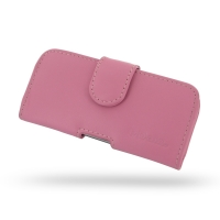 Leather Horizontal Pouch Case with Belt Clip for Apple iPhone 5 | iPhone 5s (Petal Pink)