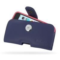 Leather Horizontal Pouch Case with Belt Clip for Apple iPhone 5c ( Compatible with 1.0 mm Slim Case / Cover on ) (Purple)
