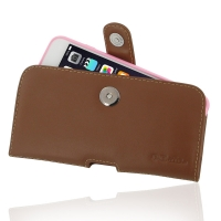Leather Horizontal Pouch Case with Belt Clip for Apple iPhone 6 Plus | iPhone 6s Plus ( Compatible with 1.0 mm Slim Case / Cover on ) (Brown)