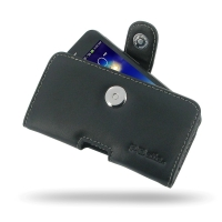 Leather Horizontal Pouch Case with Belt Clip for Asus PadFone mini 4.3