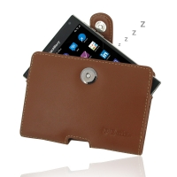 Leather Horizontal Pouch Case with Belt Clip for BlackBerry Passport (Brown)