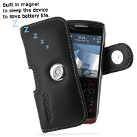 Leather Horizontal Pouch Case with Belt Clip for BlackBerry Pearl 9100 3G (Black)