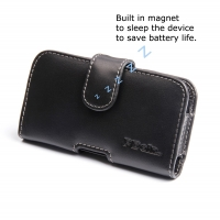 BlackBerry Q5 Leather Holster Case PDair Premium Hadmade Genuine Leather Protective Case Sleeve Wallet