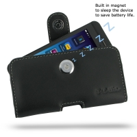 BlackBerry Z10 Leather Holster Case PDair Premium Hadmade Genuine Leather Protective Case Sleeve Wallet