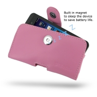 BlackBerry Z10 Leather Holster Case (Petal Pink) PDair Premium Hadmade Genuine Leather Protective Case Sleeve Wallet