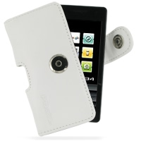 Leather Horizontal Pouch Case with Belt Clip for DoCoMo SH-04A (White)