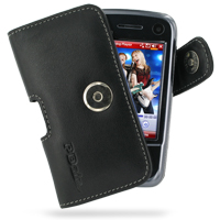 Leather Horizontal Pouch Case with Belt Clip for Eten Glofiish M810 (Black)