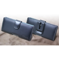 Leather Horizontal Pouch Case with Belt Clip for Fujitsu ARROWS NX F-04G