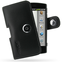 Leather Horizontal Pouch Case with Belt Clip for Garmin-Asus nuvifone A50/T-Mobile Garminfone A50