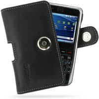 Leather Horizontal Pouch Case with Belt Clip for HP iPAQ 900 Series (Black)
