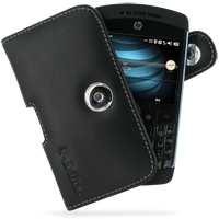 Leather Horizontal Pouch Case with Belt Clip for HP iPAQ Glisten (Black)