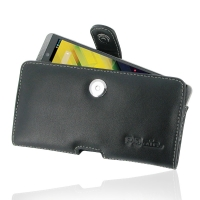HP Slate 6 VoiceTab Leather Holster Case PDair Premium Hadmade Genuine Leather Protective Case Sleeve Wallet