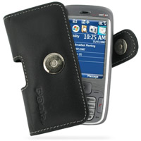 Leather Horizontal Pouch Case with Belt Clip for HTC 5800 s720 (Black)