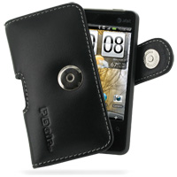 Leather Horizontal Pouch Case with Belt Clip for HTC Aria (Black)