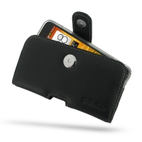 HTC Butterfly (in Slim Cover) Holster Case PDair Premium Hadmade Genuine Leather Protective Case Sleeve Wallet