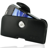 Leather Horizontal Pouch Case with Belt Clip for HTC MyTouch 4G Slide (Black)