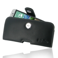Leather Horizontal Pouch Case with Belt Clip for HTC One E8