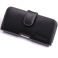 HTC One mini Leather Holster Case PDair Premium Hadmade Genuine Leather Protective Case Sleeve Wallet