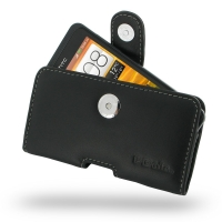 Leather Horizontal Pouch Case with Belt Clip for HTC One SC T528d