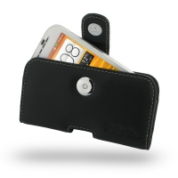 HTC One SV Leather Holster Case PDair Premium Hadmade Genuine Leather Protective Case Sleeve Wallet