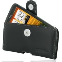 Leather Horizontal Pouch Case with Belt Clip for HTC One X+ Plus