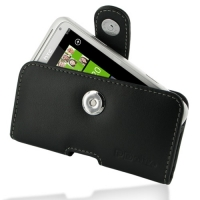 Leather Horizontal Pouch Case with Belt Clip for HTC Radar C110e (Black)