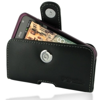 Leather Horizontal Pouch Case with Belt Clip for HTC Rhyme S510b/HTC Bliss (Black)