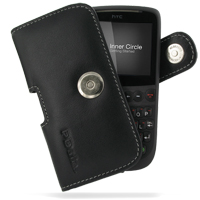 Leather Horizontal Pouch Case with Belt Clip for HTC Snap/HTC S522/HTC Maple 100 (Black)