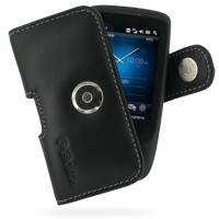 Leather Horizontal Pouch Case with Belt Clip for HTC Touch 3G (Black)